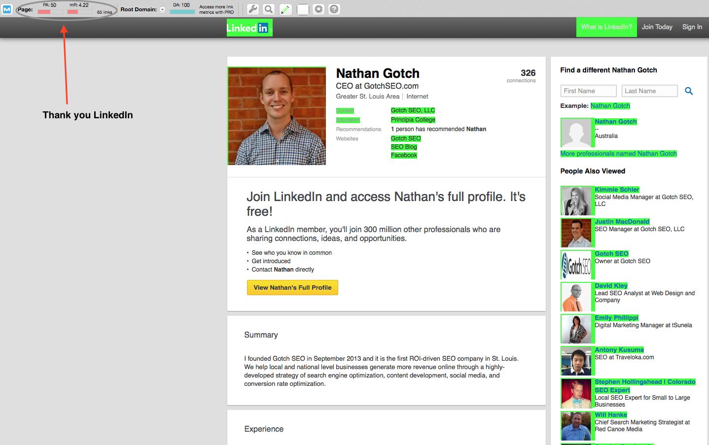 Nathan Gotch LinkedIn