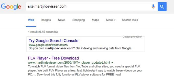 Kiểm tra chỉ mục của Google