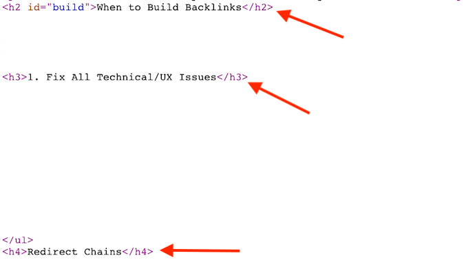 Heading Structure HTML