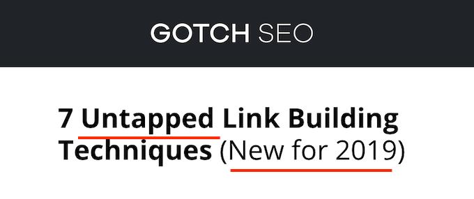 Squeeze Page Headline