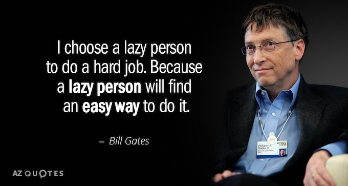 bill gates lazy quote