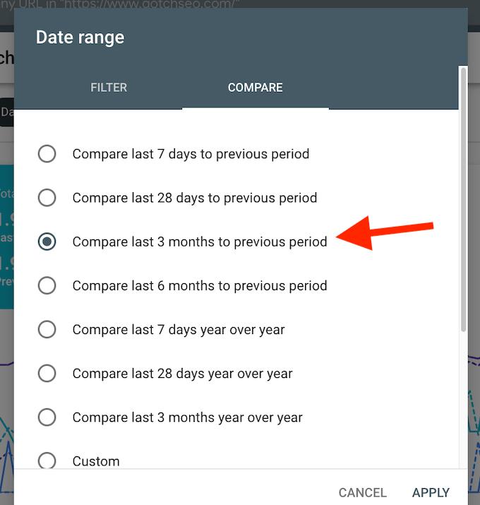 Filtro de data