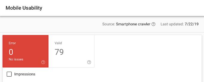 Seção de usabilidade móvel