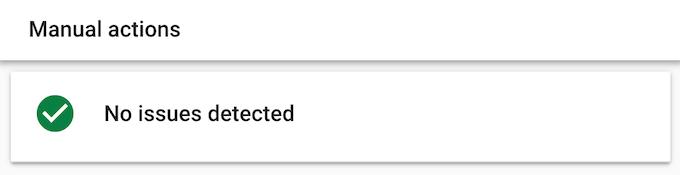 No manual actions detected