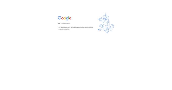 Google 404 Error Page