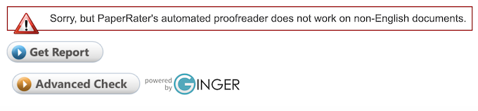PaperRater Proofreader
