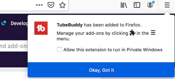 TubeBuddy Added