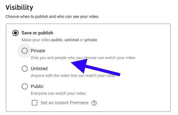 visibilidad de youtube
