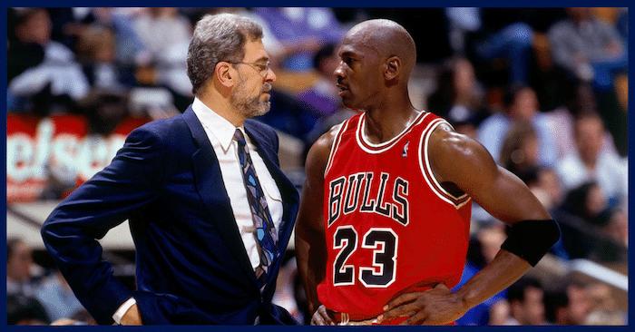Jordan and Phil Jackson